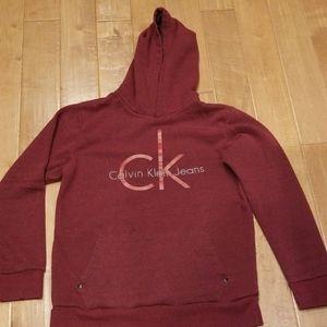 Boys hoodie sweatshirt burgundy color
